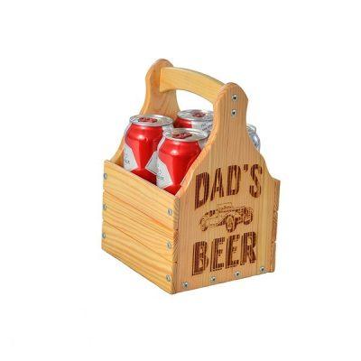 Ящик для 4 банок пива 0,33 л. «Dad's...»