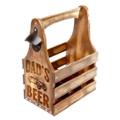 Ящик для пива «Dad's Beer» темный на 6 бутылок по 0,33л.