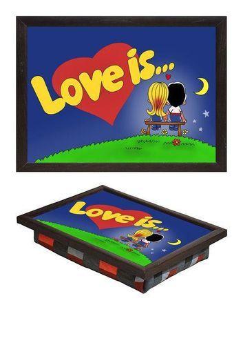 Поднос мини на подушке «Love is»