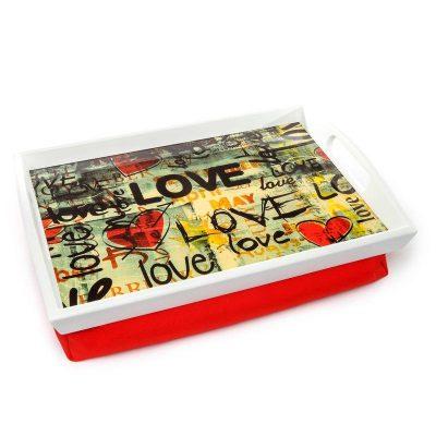 Поднос на подушке «Love» 48*33 см