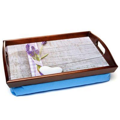 Поднос на подушке с ручками «Букет лаванды» 48*33 см