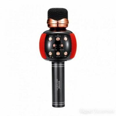 Микрофон для караоке M137 с колонкой (Red)