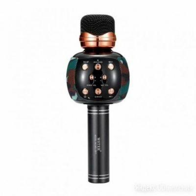 Микрофон для караоке M137 с колонкой (Khaki)