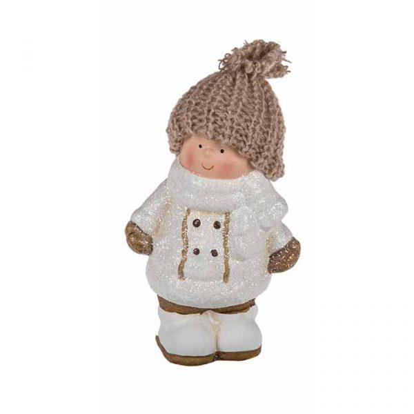 """Новогодние статуэтки """"Девочка в шапке"""", 10 х 15 см"""