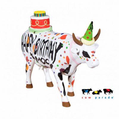 Коллекционная статуэтка корова «Happy Birthday», Size L