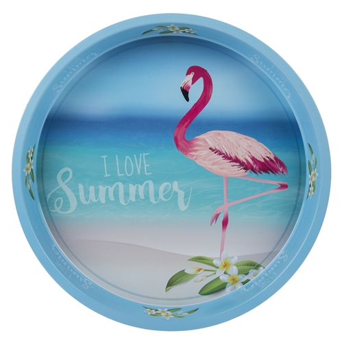 "Поднос ""Flamingo"" 33 см, голубой"