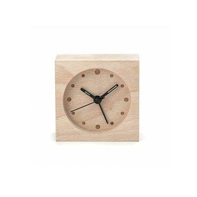 Часы будильник Дерево 8х8 см