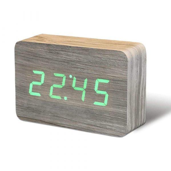 "Смарт-будильник с термометром ""BRICK"", ясень"