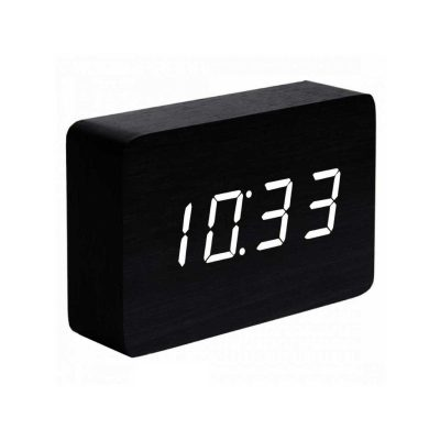 Смарт-будильник с термометром BRICK черный