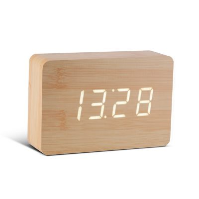 Смарт-будильник с термометром BRICK дерево береза