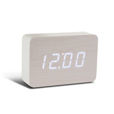 Смарт-будильник с термометром BRICK белый