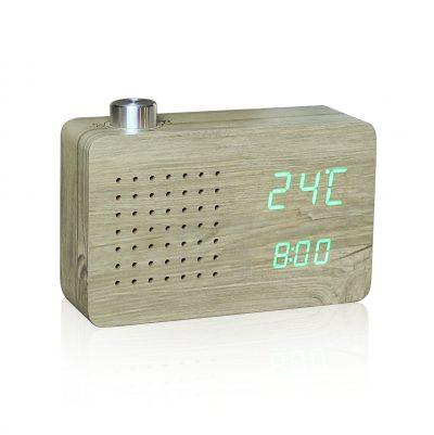 Смарт-будильник + FM-радио ASH RADIO дерево