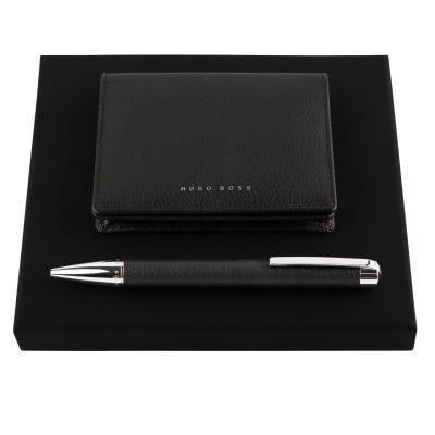 Набор Storyline Black шариковая ручка и кардхолдер, Hugo Boss