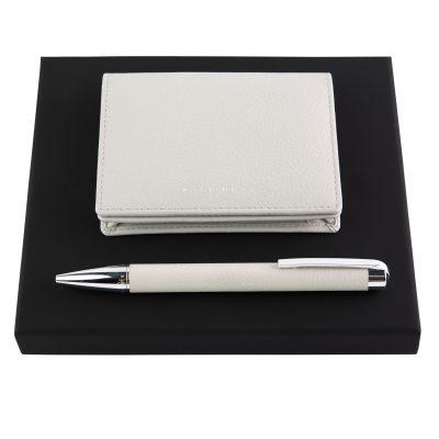 Набор Storyline Light Grey (шариковая ручка и кардхолдер) Hugo Boss