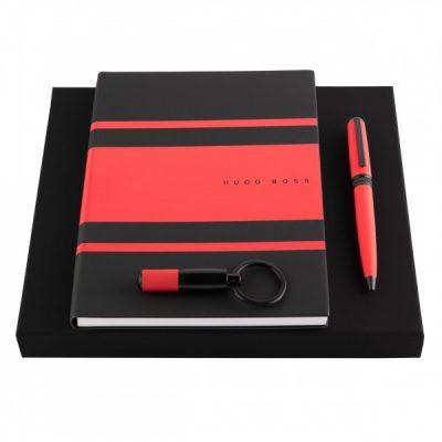Набор Gear Matrix Red Hugo Boss (шариковая ручка, блокнот A5 и брелок)