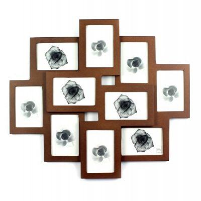 Фоторамка на 10 фото 9 x 13 см под дерево
