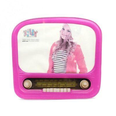 Фоторамка «Винтажное радио» розовая