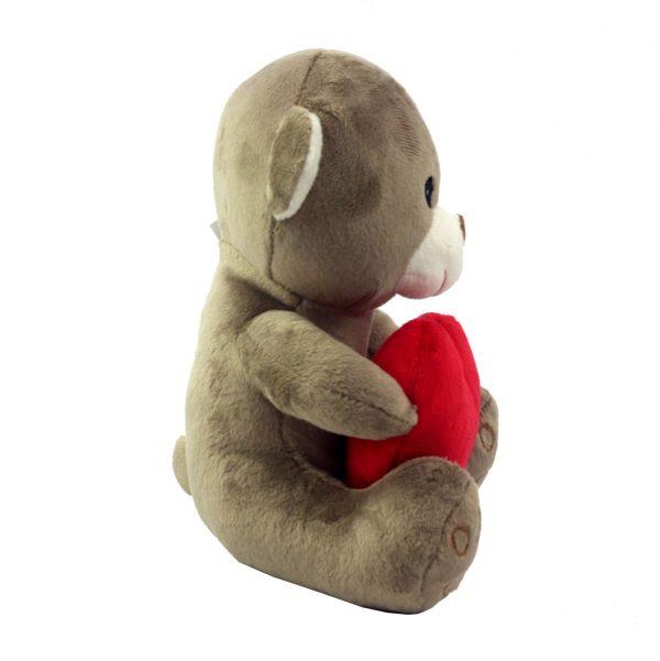 """Игрушка плюшевая """"Мишка с сердцем"""" бежевый"""