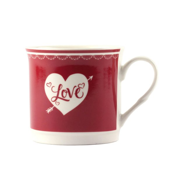 Кружка OOTB Love фарфоровая, красная