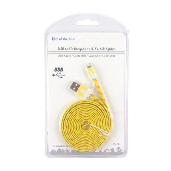 Кабель USB Apple lightning для Iphone, IPad, желтый