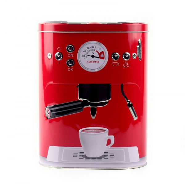 """Коробка для кофе """"Кофе-машина"""", красная"""