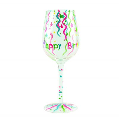 "Бокал для вина ""Happy Birthday конфети"",  стекло, 160 ил"