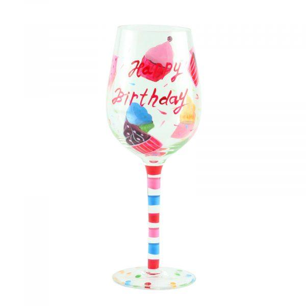 """Бокал для вина """"Happy Birthday кекс"""",  стекло, 160 мл"""