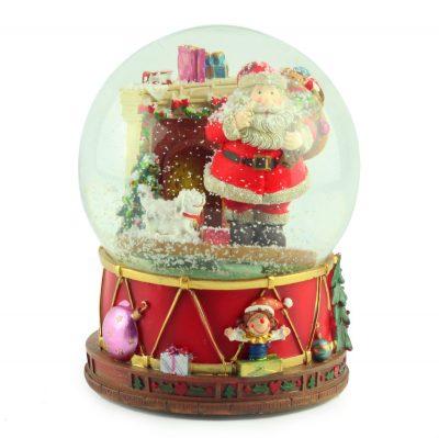 """Снежный шар музыкальная шкатулка """"Санта"""", 20 х 15 см"""