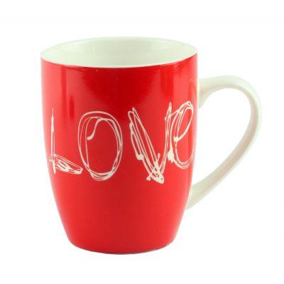 """Кружка """"Love"""", красная"""