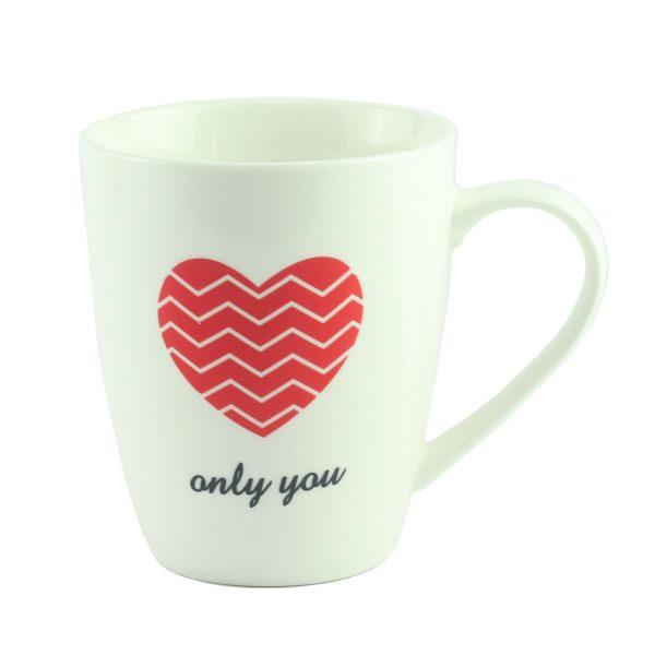 "Чашка ""Only you"" фарфор, белая"