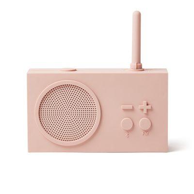 Bluetooth колонка с радио Lexon Tykho 3, розовый