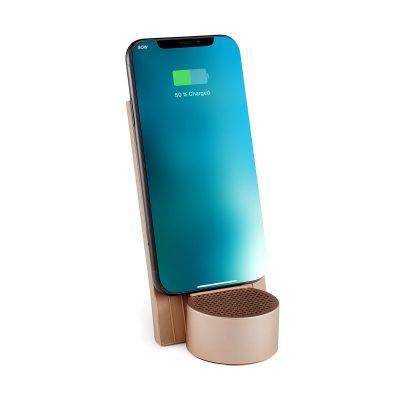 Беспроводное зарядное устройство с динамиком Lexon City Energy на 3 Вт, золотой