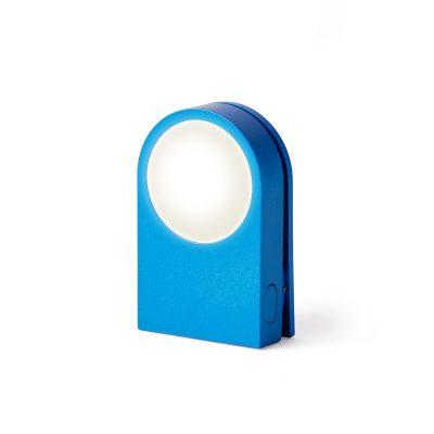 Фонарик-прищепка для безопасности на дороге LUCIE синий