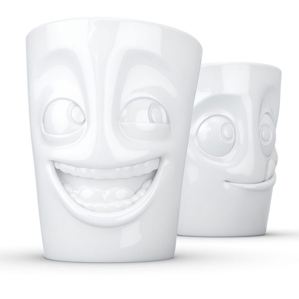 """Набор из двух чашек Tassen """"Смех и Вкуснятина"""" (350 мл), фарфор"""