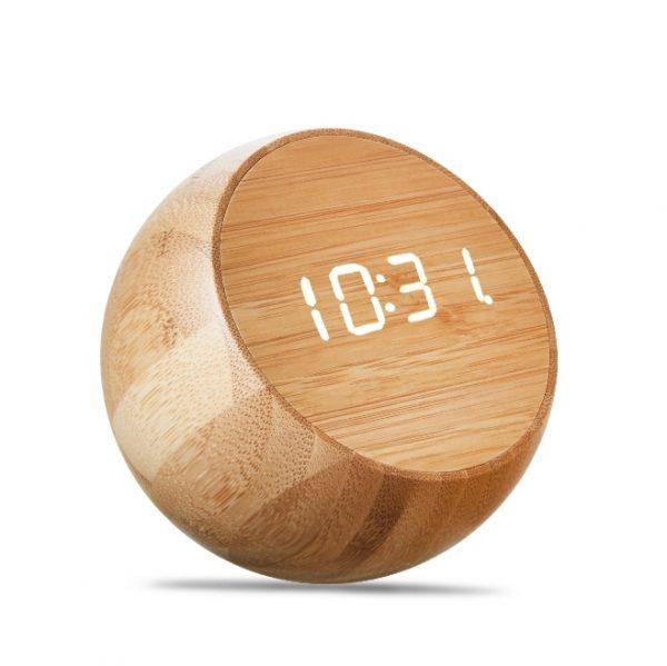 Часы Gingko Tumbler Click, бамбук