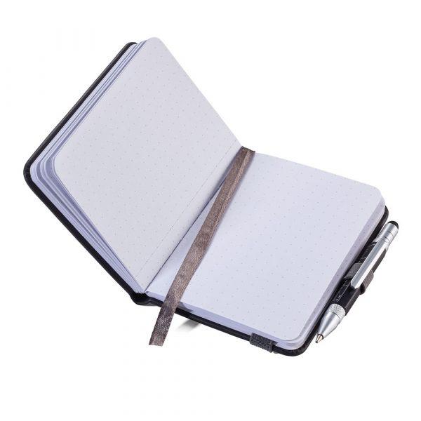Блокнот Lilipad A7 + ручка Liliput, черный