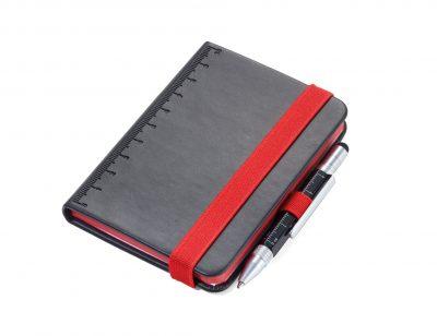 Блокнот DIN A7 LILIPAD + ручка LILIPUT черный/красный