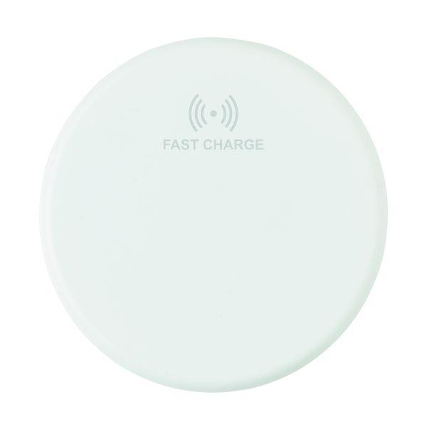 Док-станция для быстрой беспроводной зарядки, 10W, белая