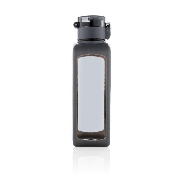 Квадратная вакуумная бутылка для воды 600мл, черная