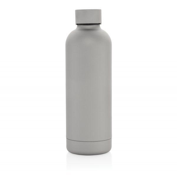 """Термобутылка с двойными стенками из нержавеющей стали """"Impact"""", серая"""