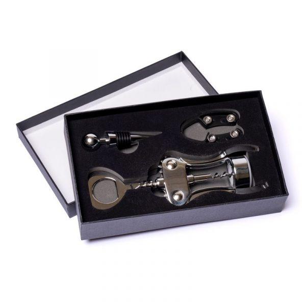 Набор для вина: штопор, пробка и ножик Decanto