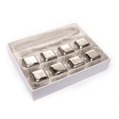 Камни для виски из стали с пинцетом (8шт.)