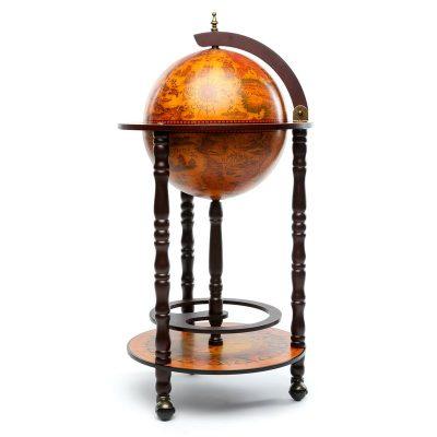 Глобус бар напольный на 3-х ножках 330 мм коричневый