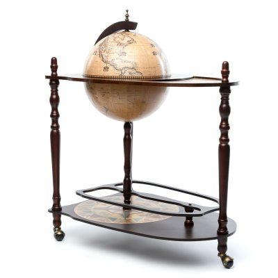 Глобус бар со столиком коричневый 330 мм