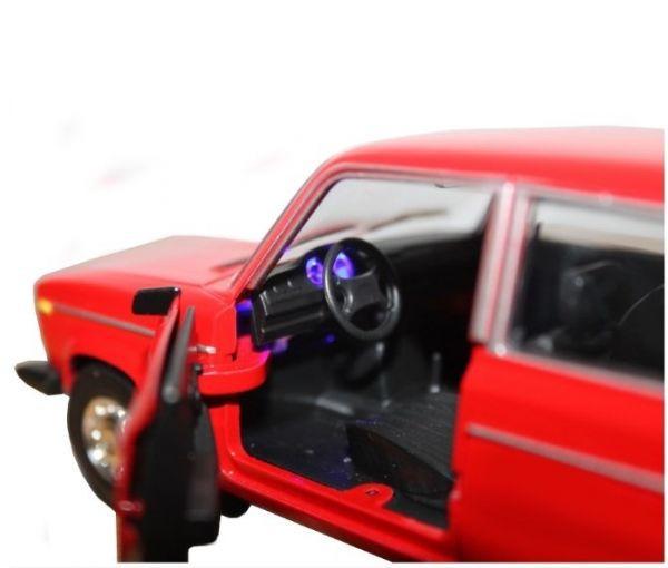 Моделька машины ВАЗ  Автопром красная