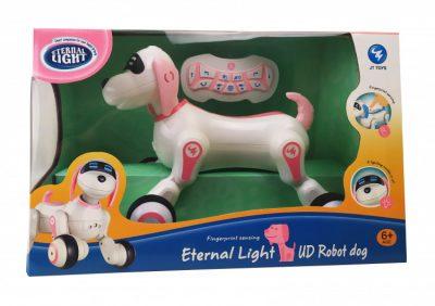 Интерактивная собака на радиоуправлении JT TOYS JT397 с сенсором (розовый)