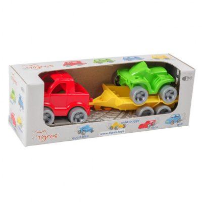 Детский игровой набор авто эвакуатор  «Kid cars Sport» пикап и квадроцикл