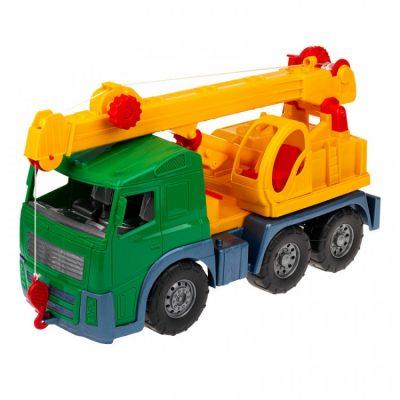 Игрушечная машинка «Кран» с выдвижной стрелой, зеленый