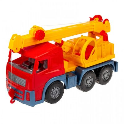 Игрушечная машинка «Кран» с выдвижной стрелой, красный