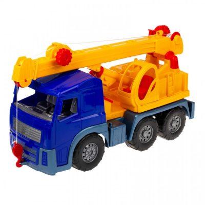 Игрушечная машинка «Кран» с выдвижной стрелой, синий